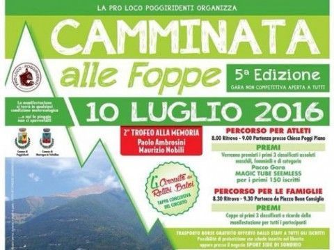 Camminata alle Foppe 2016, classifiche e foto