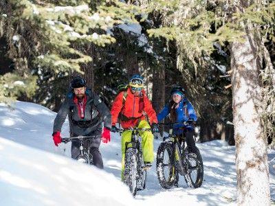 Escursione con Fat Bike sulla neve in Alta Valtellina